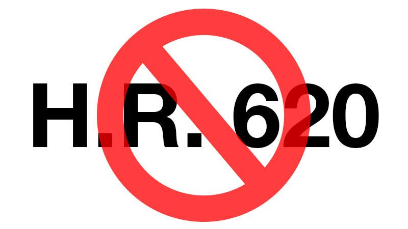 H.R. 620 slashed